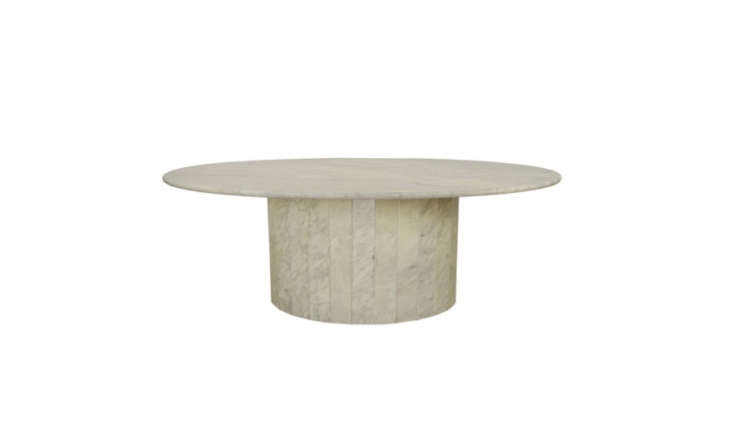 Monolith marble coffee tables are staging a comeback (see the Plinth Coffee Table for an example of a new interpretation), but there are plenty of vintage versions, like Holly&#8