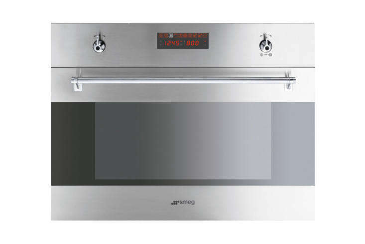 the smeg (sfu430\2mcx) classic series \24 inch electric single wall speed oven  17