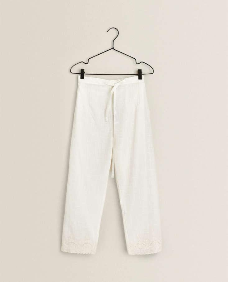 zara pleated pajama pants