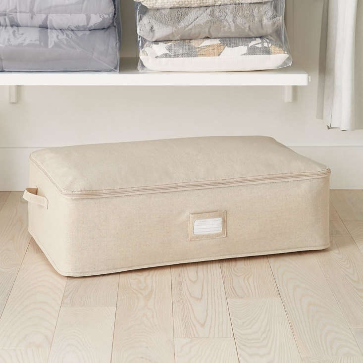 10 Easy Pieces UnderBed Storage Solutions The Container Store&#8\2\17;s Natural Under the Bed Storage Bag is \$\17.99. It&#8\2\17;s also available in Grey.