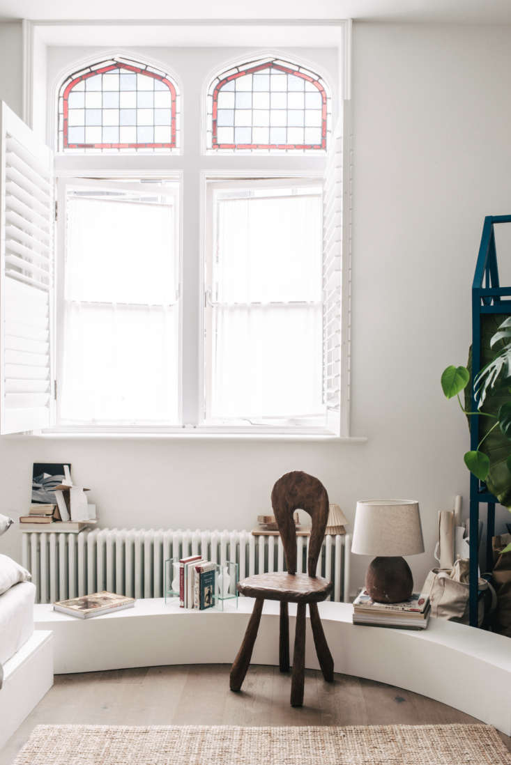 the one room apartment is in an \18th century building—located in an area  10