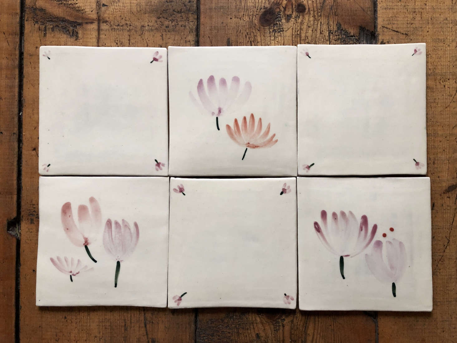 Hand-painted tiles, made to order.
