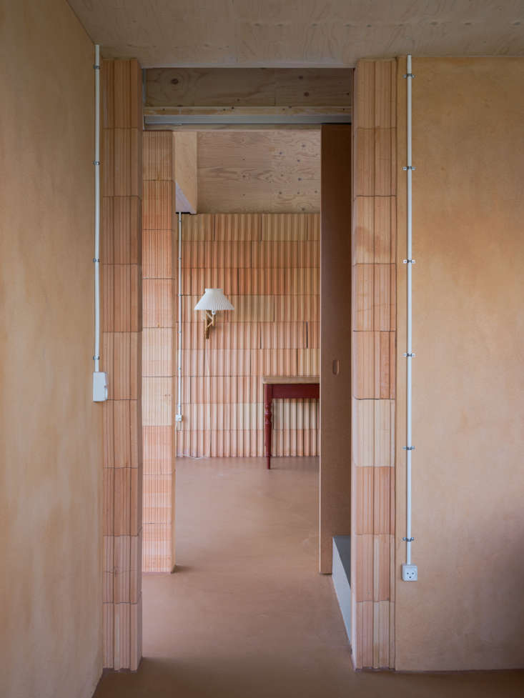 the exterior&#8\2\17;s deep terracotta hue transitions to a softer shade in 10