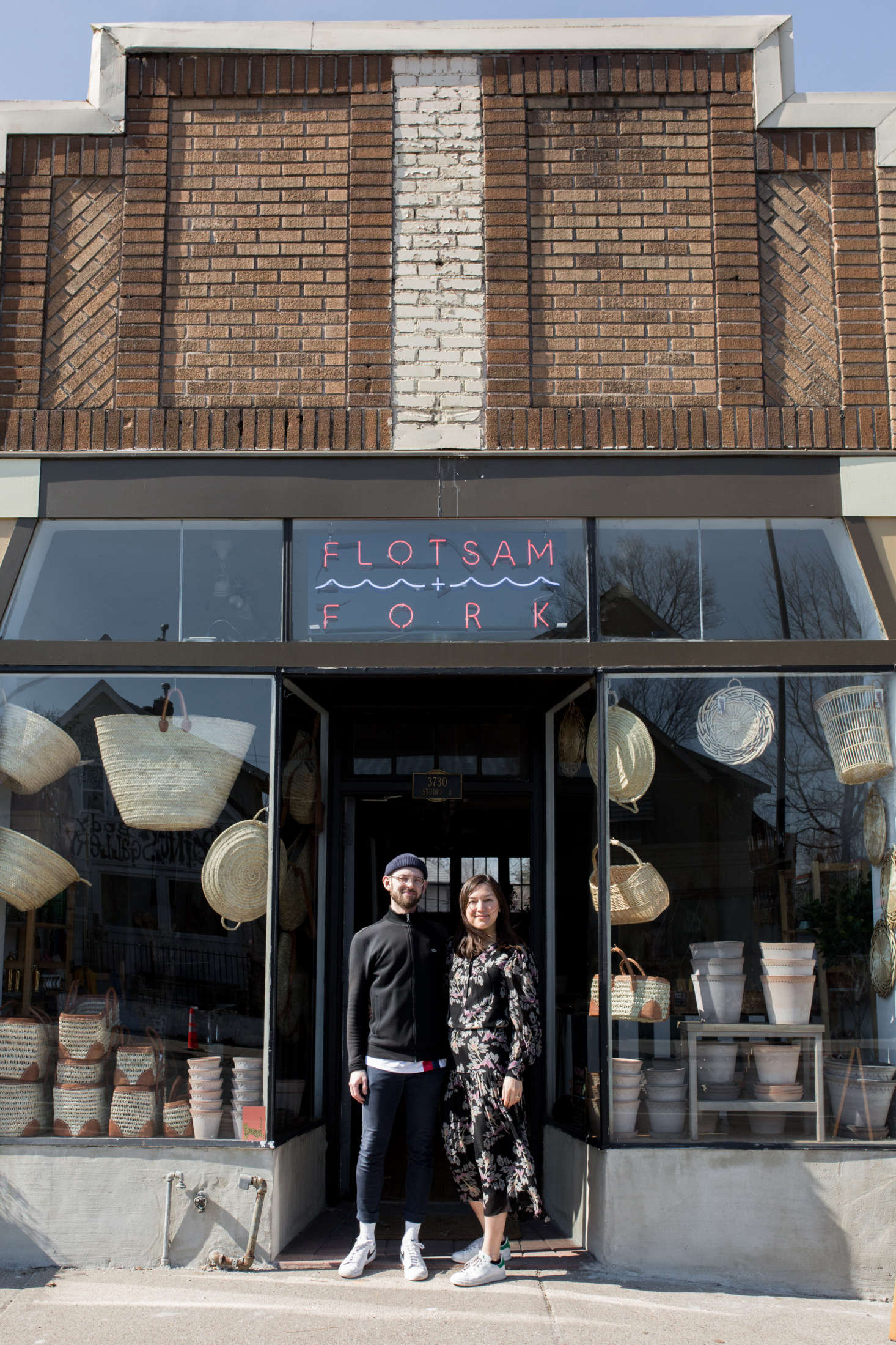 Owners Joe Hasler and Adrianna Fie frequently travel abroad in search of one-off pieces for their shop. &#8