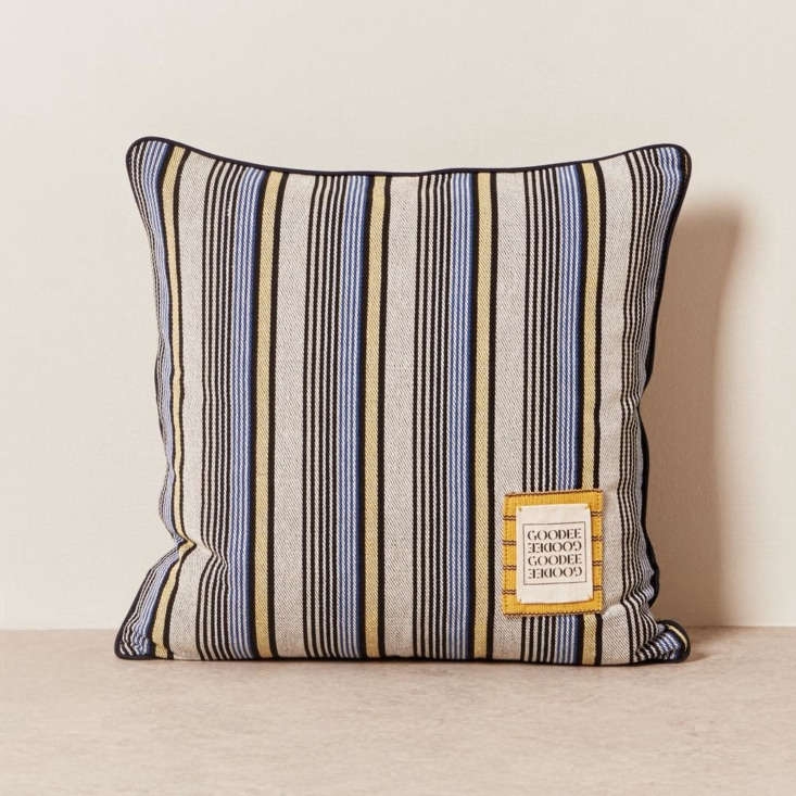 goodee limited edition pillow grey stripe solid