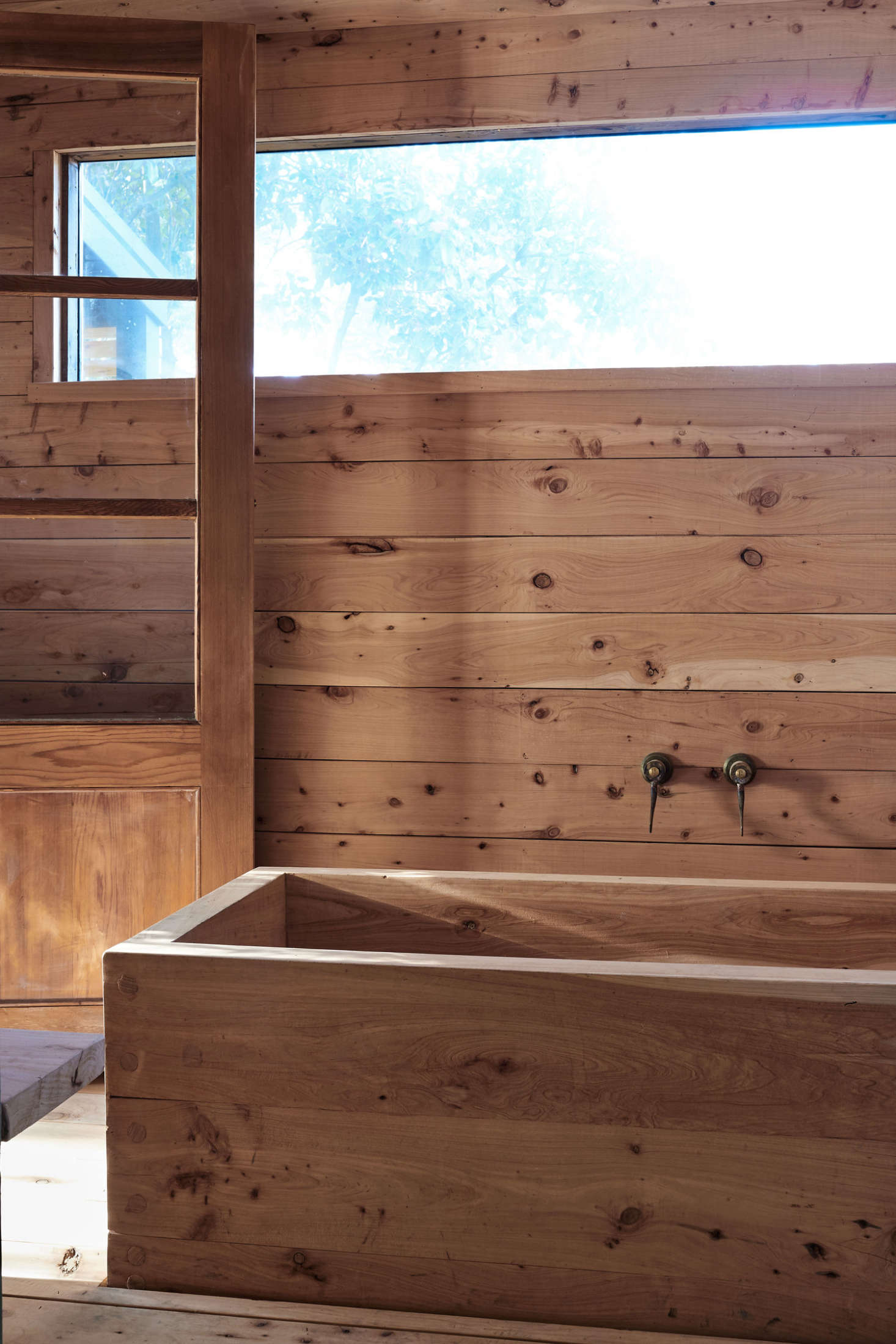 The Japanese bath occupies what had been a dilapidated shed attached to the cabin. &#8