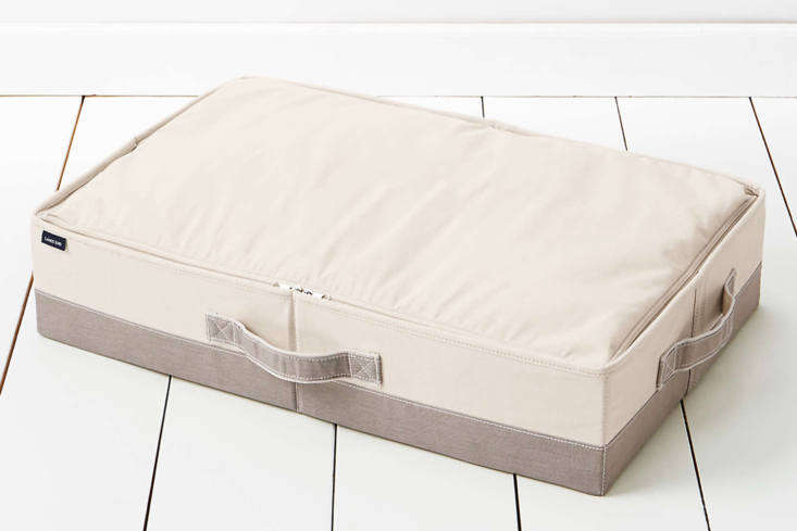 10 Easy Pieces UnderBed Storage Solutions The Lands&#8\2\17; End Canvas Under Bed Storage, shown in Natural and Khaki Pebble comes as is or with monogramming; \$\20.96.
