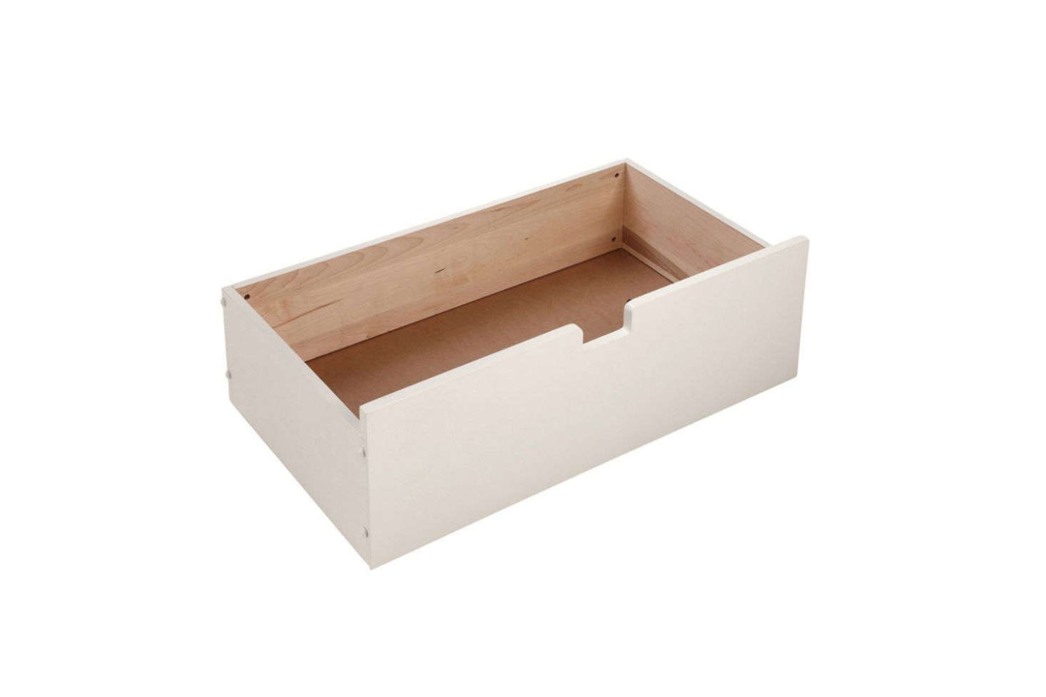 While the L.L. Bean Underbed Drawer is designed to coordinate with their beds of the same style, the drawer can be used with any bed frame of a similar shape and clearance. Made of solid wood in Maine, the drawer is $9.