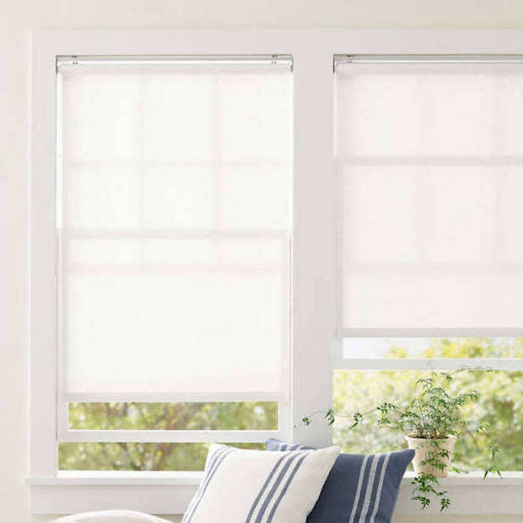 from pine cone hill ridge, the cordless roller white shade starts at \$9\1 and  17