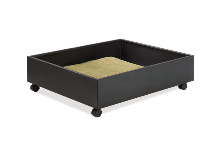 The luxe choice of the bunch is the Room & Board Steel Storage Drawer (also available in powder-coated colors) that wheels out from under the bed for easy access; $9 at Room & Board.