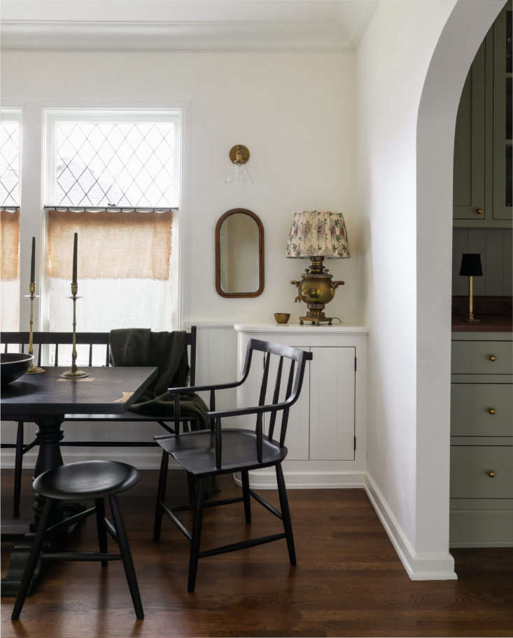 the dining table and chairs are sawkille designs: the springsteen trestle table 14