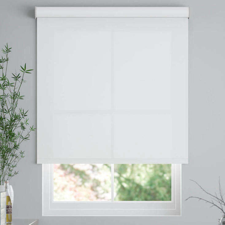 select blinds offers classic fabric roller shades, shown in cloud nine, startin 13