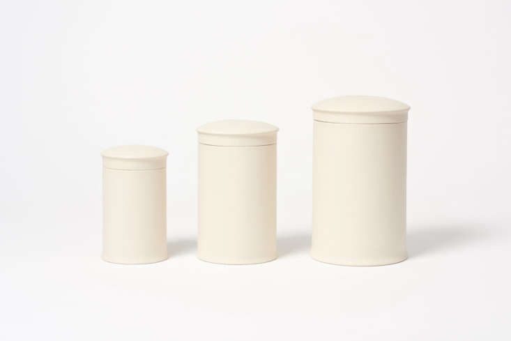 We bought our ceramic canisters from the very first Martha Stewart catalog! These Stoneware Storage Jars from the Freight Store are similar; from £30.