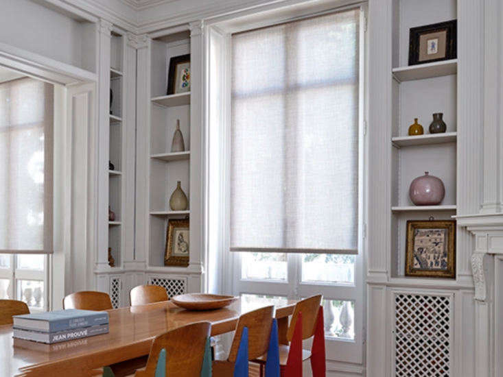 the classic custom option is from the shade store with roller shades in solids, 12