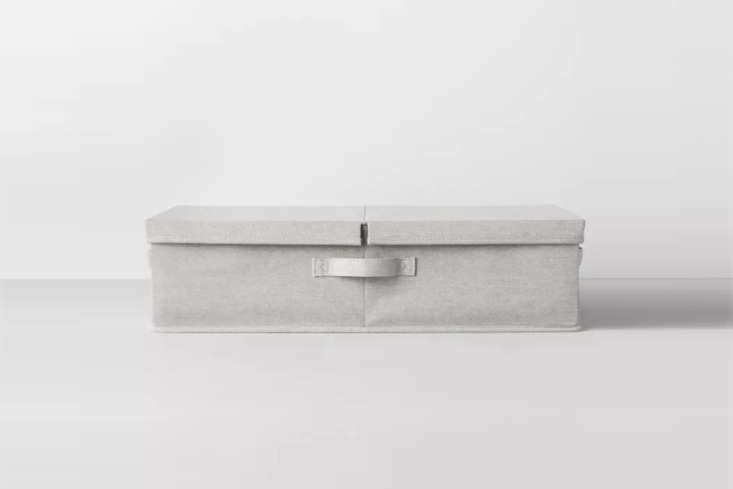 The structured Underbed Fabric Bin in Light Gray from Made by Design is $ at Target.