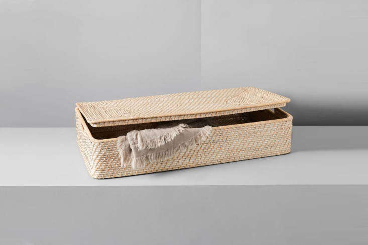 10 Easy Pieces UnderBed Storage Solutions West Elm&#8\2\17;s Modern Weave Underbed Storage Basket made of whitewashed wood is \$99.