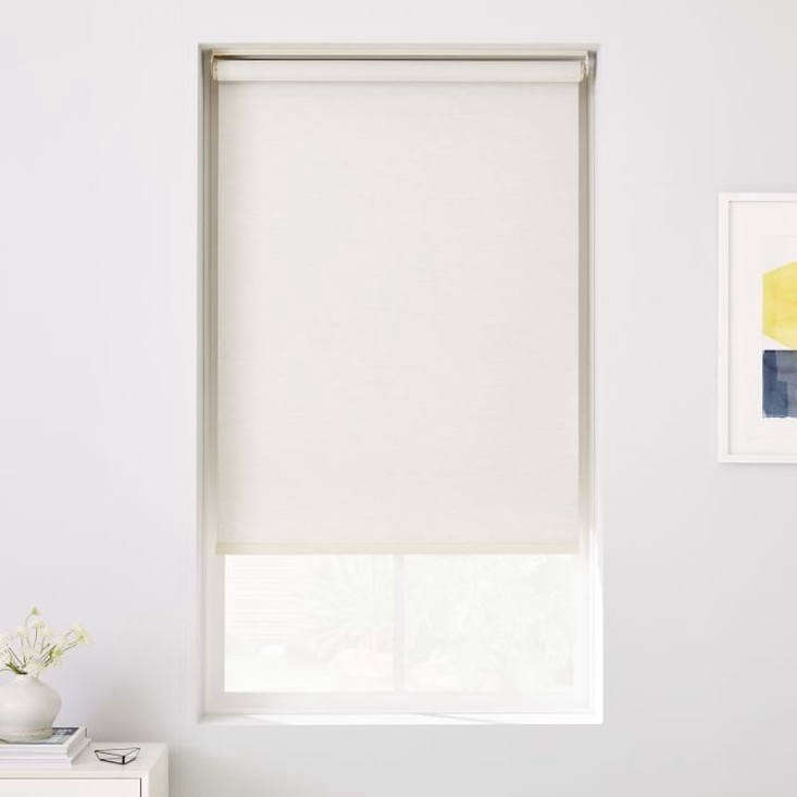 west elm&#8\2\17;s woven cordless roller shades, shown in whisper white, co 16