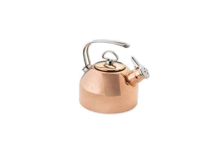 The Chantal Whistling Tea Kettle in copper is $0 at Williams Sonoma.