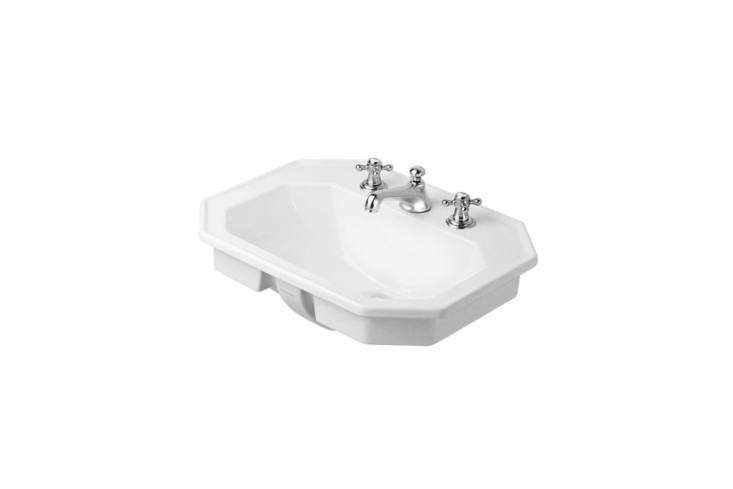 The Duravit 30 Series Washbasin can be wall-mounted or fitted to a console; $334.53 at Quality Bath.
