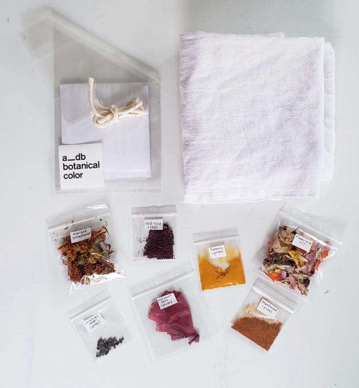 Color Explosion Linens Imbued with Natural Plant Dyes Local parents are going crazy for these Botanical Dye Kits, which make for great kid friendly crafting; \$\2\2.