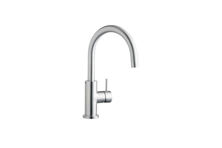 10 Easy Pieces Modern DeckMount Kitchen Faucets Under 500 The Elkay (LK79\2\1SSS) Allure Single Hole Kitchen Faucet with Lever Handle, shown in satin stainless steel, is \$\274.99 at Amazon.
