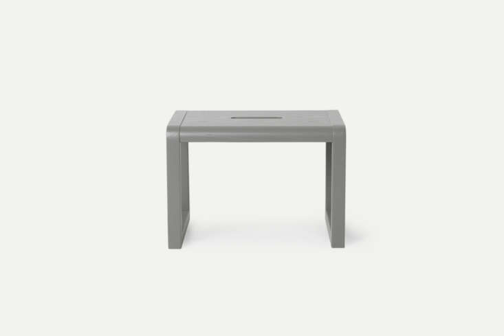 The Ferm Living Little Architect Stool comes in five colors and is designed for kids to stand on to brush their teeth or reach higher shelving; €95 at Ferm Living.