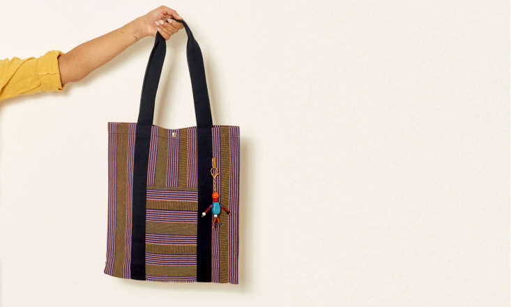 """the brand new bassi market tote (\$\199), shown here in the """"mimosa and purpl 10"""