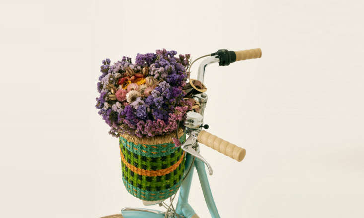 a cheerful addition for spring: baba tree's medium bicycle basket (\$80)—sh 11