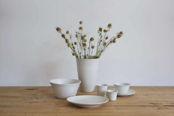 a collection of simple white tableware from netherlands based studio ro smit, c 15