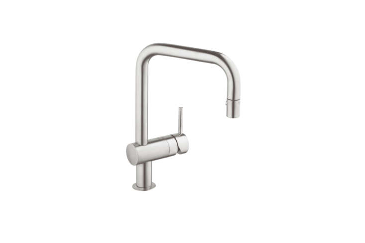 The Grohe Minta Pull-Down Faucet (3DC3), in chrome or super steel, is $483 at Quality Bath.