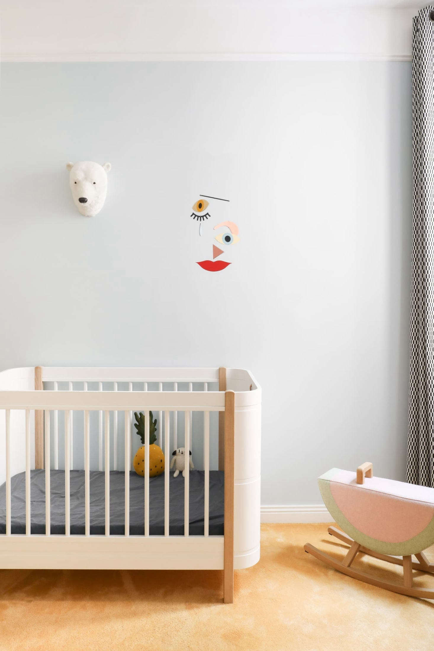 The former kitchen in the back of the apartment was transformed into the baby&#8