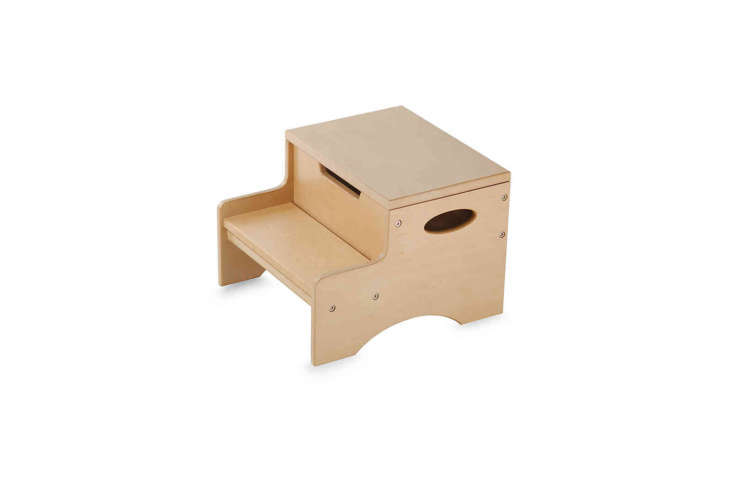 the kidkraft step n&#8\2\17; store natural stool is currently on sale for \ 18