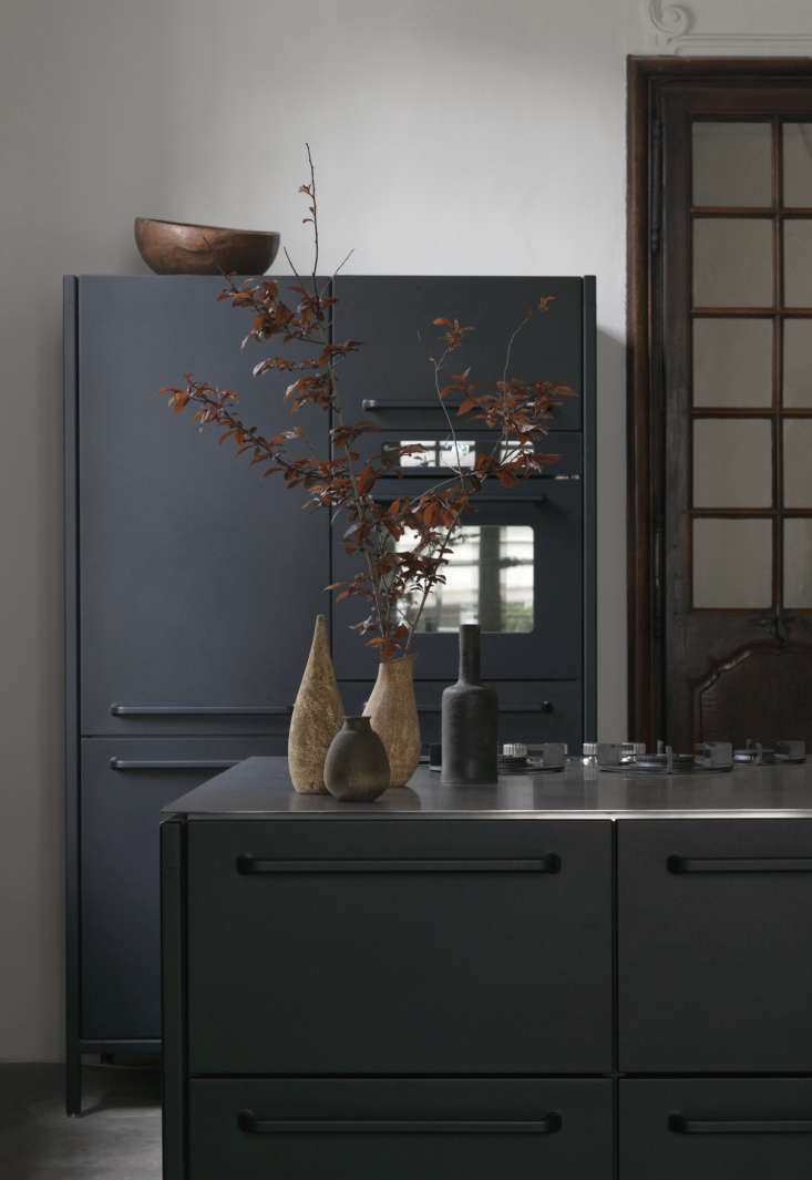 """Second Act A London Design Couples Townhouse in a Small French Market Town """"We bought the kitchen in Denmark after having seen it in a magazine. Being half Danish, I do have a predilection for the design traditions and functional philosophy expressed in the Vipp kitchen and other Danish designs,&#8\2\2\1; says Lone."""