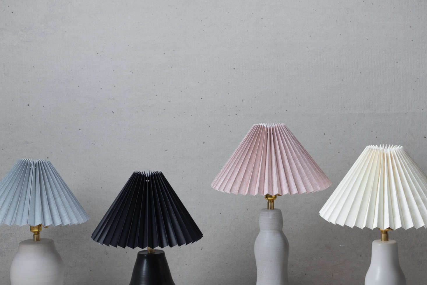 The line ranges in price from $550 to $700, and is available with a choice of shade colors.