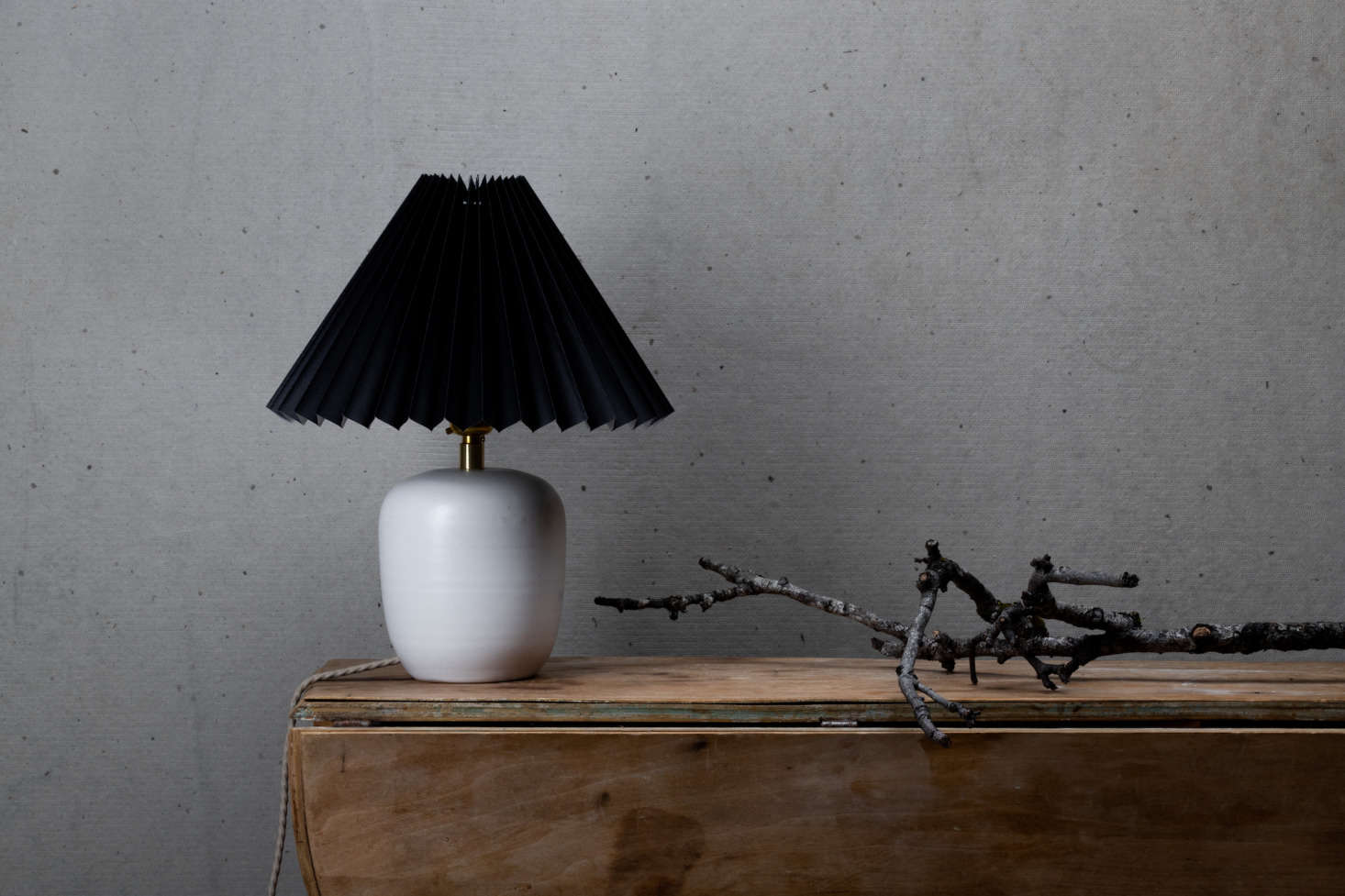 Notary Lighting Collection #3 is handmade from white porcelain clay and glazed in a soft satin white finish; $550.