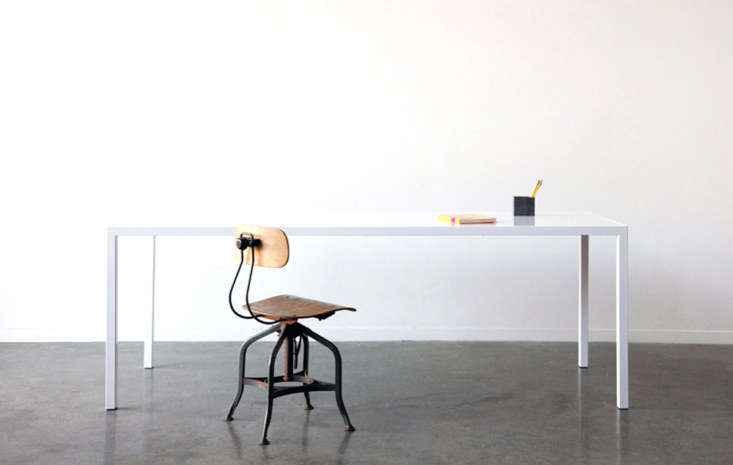 The Noi Table from Ohio Design in San Francisco comes in white or black powder coating; $699 to $loading=