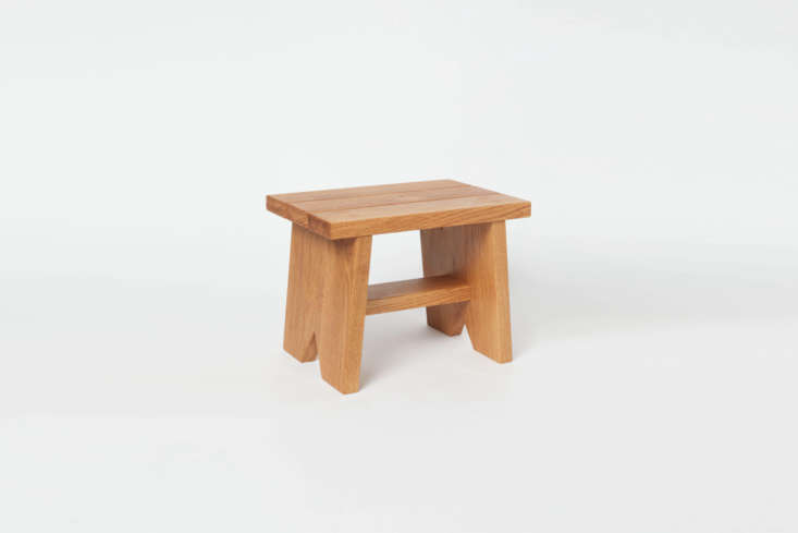 The Peg and Awl Step Stool comes in Oak, Walnut, and Blackened Oak for $loading=