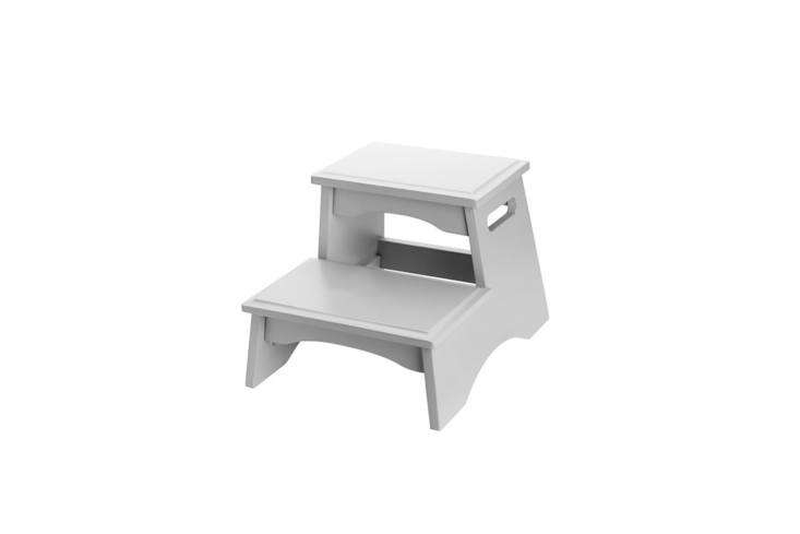 The Pottery Barn Kids Classic Step Stool comes in one or two steps and in four different colors; $59 to $75.