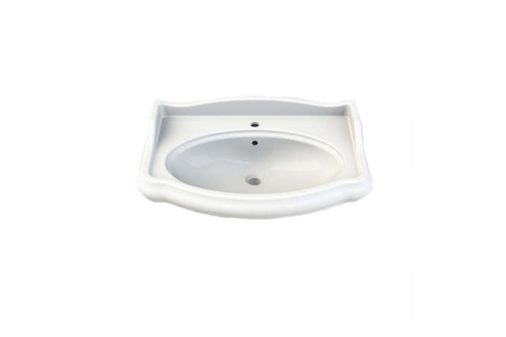 From The Bath Outlet, the Rectangle White Ceramic Wall-Mounted Sink is $490.