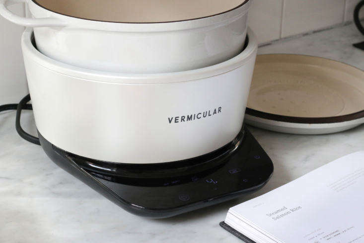 the vermicular musui is an enameled cast iron pot with a lid that&#8\2\17;s 11