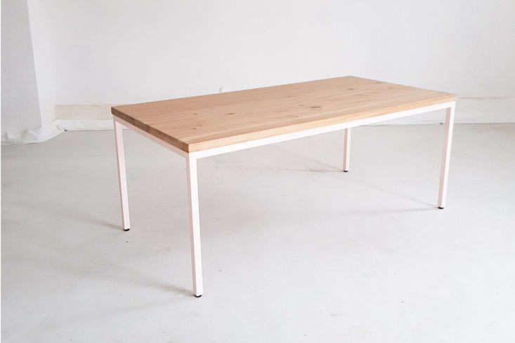 On Etsy, the Wildoak Dining Table in Rosé Powder Coated Steel is $loading=
