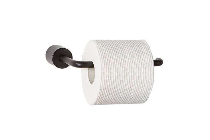 10 Easy Pieces Modern Metal Toilet Paper Holders From CB\2&#8\2\17;s Rough Cast bathroom accessories line of rough hewn aluminum, the Black Toilet Paper Holder is \$\24.95.
