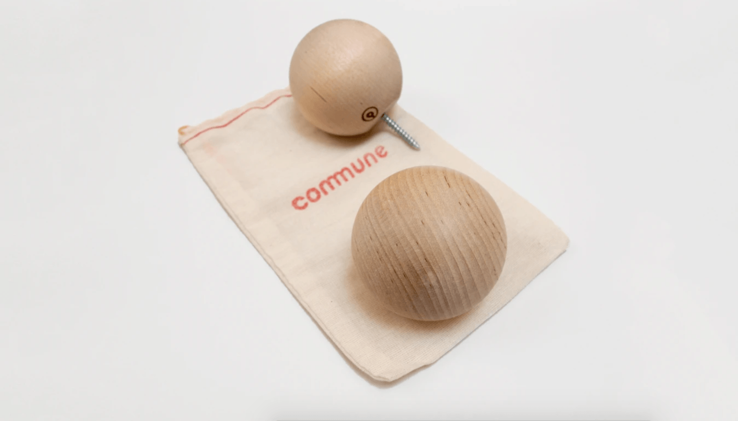 A pair of Birch Ball Hooks from Commune Design is $30.