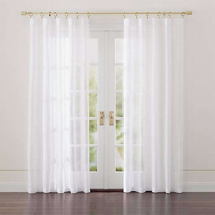 The Crate & Barrel Linen Sheer Curtain Panel starts at $39.95.