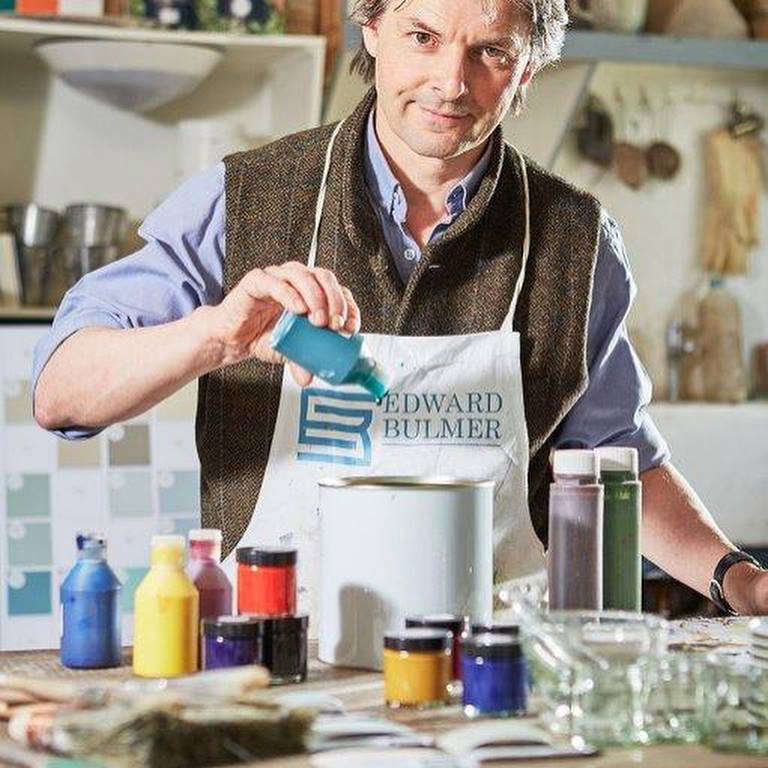 Bulmer runs his business from his Queen Anne house in Herefordshire, which he shares with his wife and three daughters he has spent  years restoring, converting a former cattle shed into a workshop.