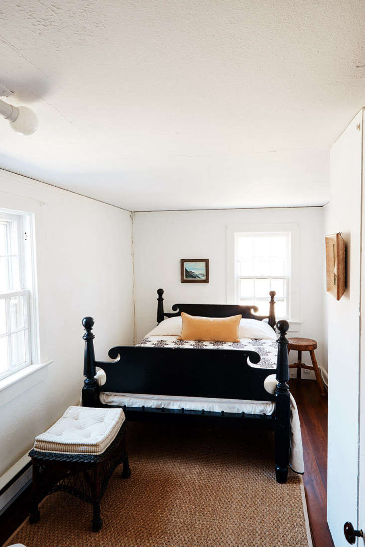 Each bedroom is big enough for just a bed and a couple pieces of small furniture.