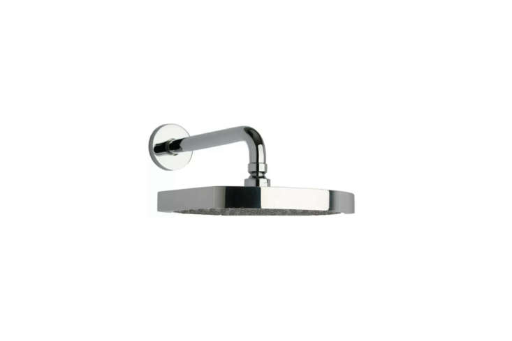 The Latoscana Novello Shower Head with Arm (86CR750) comes in Chrome or Brushed Nickel for $4 at Quality Bath.