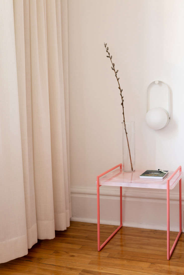&#8\2\20;the pink side table is custom made for our small collection of fur 23