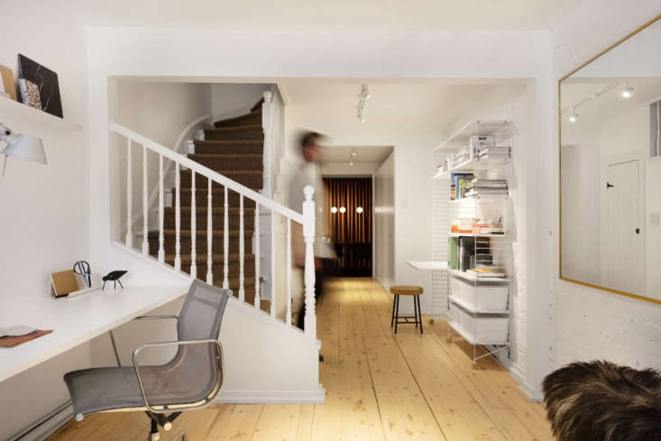 the staircase is original to the \1885 house. the couple added a tretford carpe 11