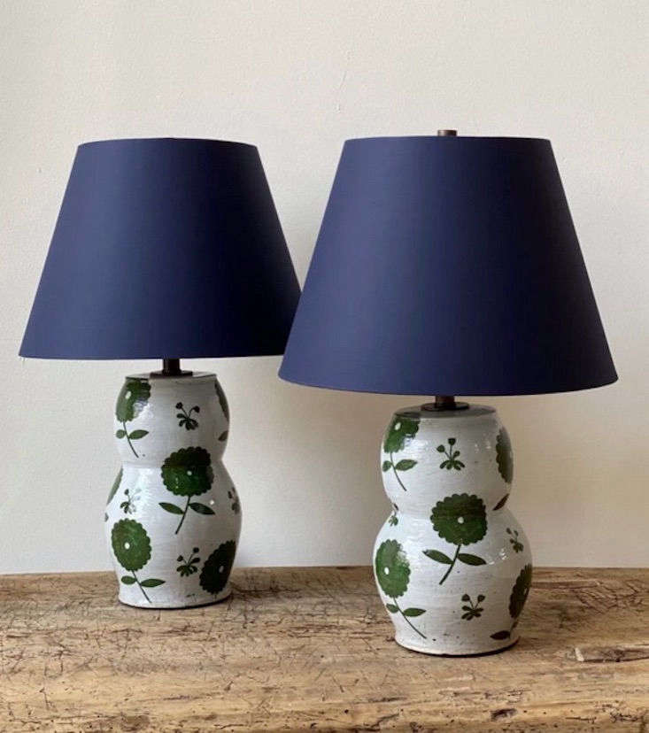 Sold as a pair, her Ceramic Table Lamps are $